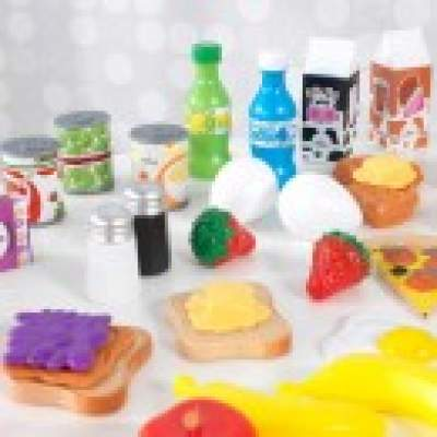 KIDKRAFT DeluxeTasty Treat Pretend Play Food Set